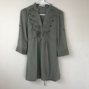 Anthropologie Mine Green Top Size Small